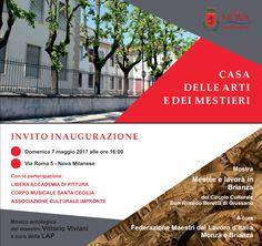 Invito inaugurazione Casa delle Arti e dei Mestieri