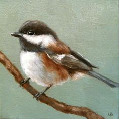 """Little Chickadee"" - Original Fine Art for Sale - © Larisa Brechun Watercolor Bird, Watercolor Animals, Watercolor Paintings, Bird Pictures, Pictures To Paint, Animal Paintings, Bird Paintings, Images Vintage, Bird Drawings"