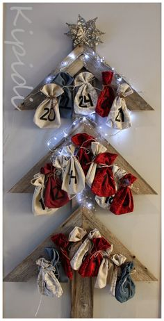 Joulukalenteri/ Advent Calendar Advent Calendar, Christmas Wreaths, Holiday Decor, Handmade, Crafts, Home Decor, Hand Made, Manualidades, Decoration Home