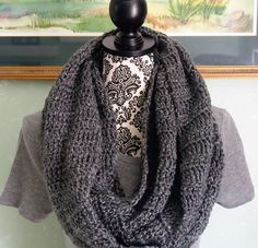 A personal favorite from my Etsy shop https://www.etsy.com/listing/479490899/grey-super-soft-infinity-scarf