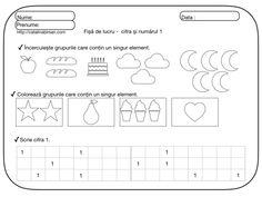 Fise de lucru pentru numerele si cifrele 1-10. – Catalina Bîrsan Preschool, Puzzle, Diagram, Words, Blog, Crafts, Montessori, Puzzles, Manualidades