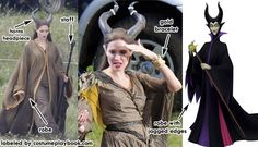 Costume guide and quick makeup overview of Angelina Jolie's Maleficent (and the Disney animation version)