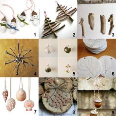 DIY Natural Christmas Tree Ornaments -- adore these