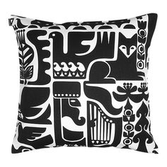 Marimekko Cushion Cover - Kanteleen Kutsu 190 Black & White – Kiitos living by design Cushion Covers, Pillow Covers, Cushions On Sofa, Throw Pillows, White Pillows, Contemporary Cushions, Scandinavia Design, Soft Furnishings, Black And White