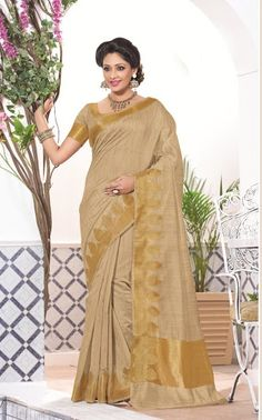 a882009bf5 Online shop for latest indian sarees. Shop this radiant tan brown casual  jacquard saree.