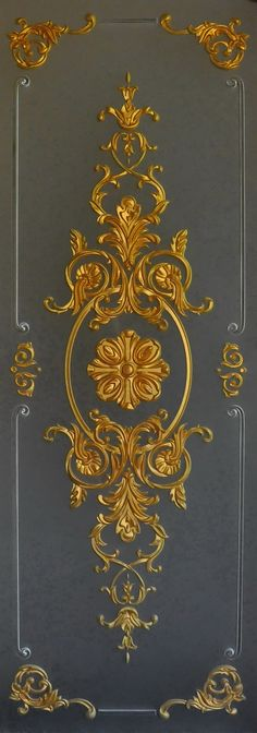 This Pin was discovered by Bic Door Design, Wall Design, Pattern And Decoration, Decorative Panels, Motif Floral, Classic Interior, Ceiling Design, Wood Carving, Damask