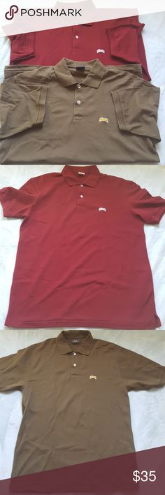 Le Tigre Men's Polo Shirts Bundled The burgundy polo is new and never worn. The greenish brown was only worn once. Last picture shows the actual color of the green one. Both are clean and in excellent condition. le tigre Shirts Polos