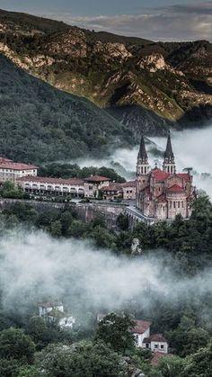 Covadonga in the Mist, Asturias, Spain