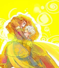 Merida and Jack Frost :3