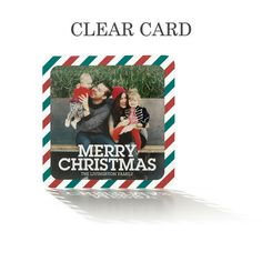 Striped Christmas Clear Holiday Card by Hello Little One featuring a delightful pattern and bold font. #TinyPrintsCheer