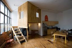 There Is A Treehouse & A Cabin In This Playful Brooklyn Loft Apartment - DesignTAXI.com
