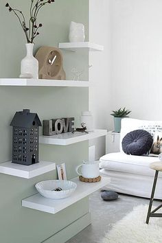 Fabulous Ideas Can Change Your Life: Floating Shelves Pantry Fixer Upper floating shelf for tv decor.Floating Shelf Bar Home floating shelves under mounted tv tvs.Floating Shelves Under Mounted Tv Tvs. Room Inspiration, Interior Inspiration, Home Living Room, Living Room Decor, Interior Styling, Interior Design, Rustic Floating Shelves, Home And Deco, Wall Shelves