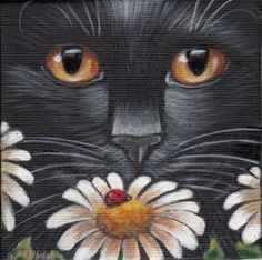 Black Cat - Spring Mini Art