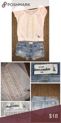 Abercrombie Kids 2PC Lot Pre•loved Abercrombie Kids 2PC Lot Top is a size 12/L / Pink / Elastic Hem  Shorts are a size 12 EUC 3218P abercrombie kids Bottoms
