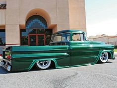Awesome Low Rider Truck,I love the money green color Chevrolet Apache, Chevrolet Trucks
