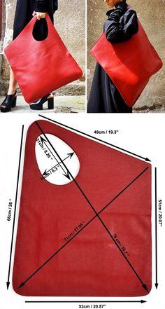 Leather Bags Handmade, Handmade Bags, Bag Patterns To Sew, Sewing Patterns, Sacs Design, Diy Handbag, Craft Bags, Denim Bag, Fabric Bags