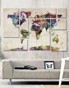 Delt verdenskort