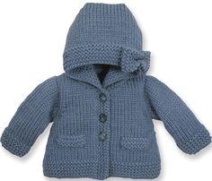 Discover thousands of images about Manteau : Laine › Manteau › Layette / Enfants › Laines Bouton d'Or Knitted Baby Cardigan, Knitted Baby Clothes, Knitted Coat, Kids Knitting Patterns, Knitting For Kids, Baby Patterns, Tricot Baby, Pull Bebe, Baby Girl Sweaters