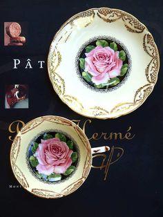 Vintage paragon rose tea cup by ShelleyTeaRoom on Etsy