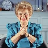 Dr. Ruth Westheimer  1928-  SEX THERAPIST AND INFECTIOUS GIGGLER    Virginia Johnson researched the human sexual response, and Mary Calderone, M.D., founded the Sexuality Information and Education Council of the United States. But it was the diminutive Dr. Ruth, on her long-running radio show Sexually Speaking and then on TV, who really broke the shame barrier and got America chatting cheerfully and frankly about safe, sane, and satisfying sex.