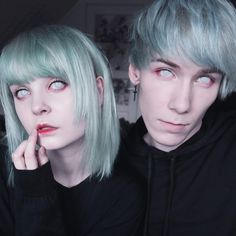 Hanna and Thomas Bye 2016 💀 Pastel Goth, Hair Color, Hair Beauty, Graphics, Photo And Video, Hair Styles, Makeup, Instagram Posts, Cute