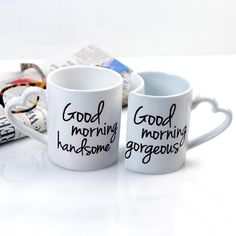 Good Morning Couples Coffee Mugs