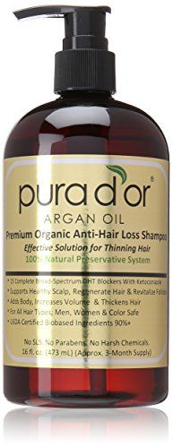 Pura d'or Premium Organic Anti-Hair Loss Shampoo (Gold Label), 16 Fluid Ounce | shopswell