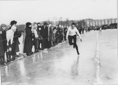 Het Stadspark Max Tetzner tijdens de Nederlandse schaatskampioenschappen 1921 - Foto's SERC
