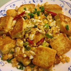 金沙豆腐食譜、作法   娟兒的多多開伙食譜分享