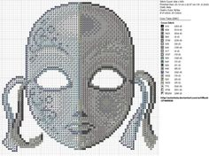 Free Cross Stitch Pattern - Two Face Mask by ~carand88 on deviantART