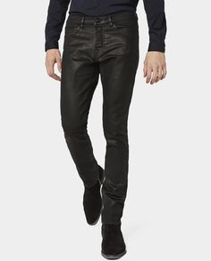 The Kooples - Waxed 'Color Denim' Slim Fit Jeans