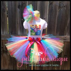 Inside Out Birthday Tutu set any size available 12m to 10y FREE Headband by PetitTutuBoutique on Etsy https://www.etsy.com/listing/236630707/inside-out-birthday-tutu-set-any-size