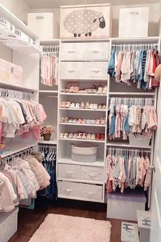 25 Best Girl Nursery ideas that you will want to copy. Unique baby girl nursery themes including bohemian, floral, vintage, woodland, farmhouse and so much more! Baby Room Themes, Baby Girl Nursery Themes, Baby Room Decor, Baby Girl Nurseries, Room Baby, Baby Rooms, Baby Girl Closet, Kid Closet, Baby Closets