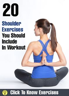 Top Shoulder Exercises: mprove their range of motion; and sculpt those sexy shoulders.