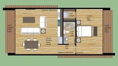 700 square foot (?) tiny house, one bedroom