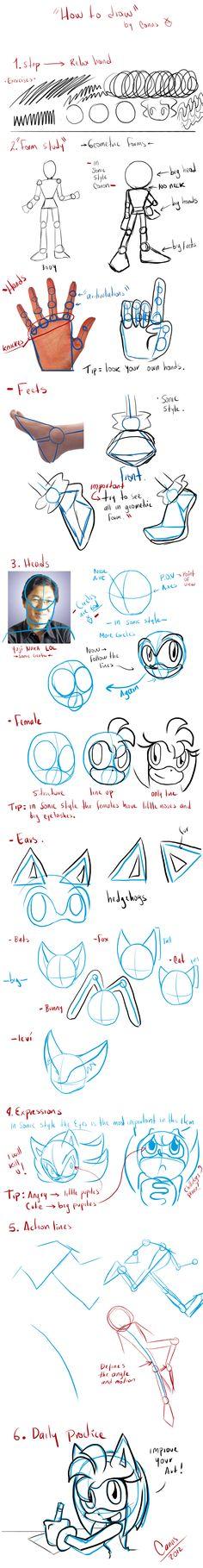 notHow to Draw Sonic's Body2? by DawnHedgehog555 on DeviantArt