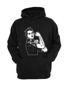 233dca4c5 Feminist Hoodie with a symbol of strength to show support for equal rights  and solidarity.