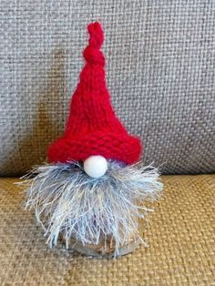 Upcycled champagne cork knitted gnomes