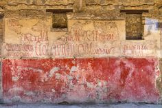 POMPEII-One of many examples of political graffiti that can be viewed throughout this ancient city.