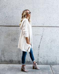 Harmony Cozy Cardigan - Women Long Sleeve Fur Cardigan Loose Sweater Outwear Jacket Coat Sweater Top