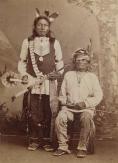 1880's Native American Sioux Indian Chief Running Bear Cabinet Card Photo | eBay