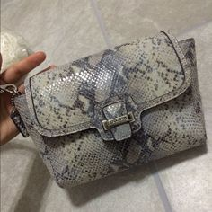 Coach Taylor Exotic Flap Leather Python Clutch