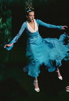 """""""Alice in Wonderland"""" Natalia Vodianova by Annie Leibovitz for Vogue December 2003"""