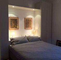 21 Magnificent Inspirations For Small Bedroom Designs, Master Bedroom Design, Home Bedroom, Modern Bedroom, Bedroom Decor, Bedroom Built Ins, Small Master Bedroom, Dispositions Chambre, Bedroom Cupboards