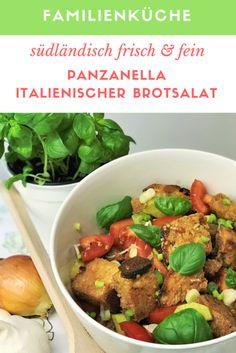 Es kommt selten vor, dass wir altes Brot haben. Doch wenn, dann machen wir daraus das Beste, das man aus unserer südländischen Sicht damit machen kann: Panzanella! Panzanella ist ein besonders feiner italienischer Brotsalat, der sich auch dafür eignet Brotresten zu verwerten! Versucht unser Rezept! #panzanella #Brotsalat #Brot #Resten #verwerten #italienischeKüche #LaCucinaAngelone #DieAngelones #Familienküche #Foodwaste Different Recipes, Kung Pao Chicken, Beef, Ethnic Recipes, Food Food, Italian Bread Salad, Cooking, Italian Kitchens, Meat
