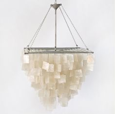 Worlds Away Capiz Shell Square Chandelier $495.00... Dont know which one I like it more, the one with round or square Capiz shells.