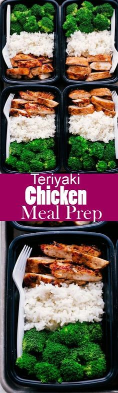 This Easy Teriyaki Chicken Meal Prep is a great way to guide yourself into a hea. - This Easy Teriyaki Chicken Meal Prep is a great way to guide yourself into a healthier lifestyle. Chicken Meal Prep, Chicken Recipes, Healthy Chicken Meals, Veggie Meal Prep, Best Meal Prep, Meal Prep For The Week, Weekly Meal Prep, Simple Meal Prep, Easy Healthy Meal Prep