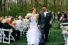 Ceremony nestled in the woods. Photo Credit: Kate Hennessey Photography #brandywinemanorhouse