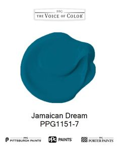 Jamaican Dream is a part of the Blues collection by PPG Voice of Color®. Browse this paint color and more collections for more paint color inspiration. Get this paint color tinted in PPG PITTSBURGH PAINTS®, PPG PORTER PAINTS® & or PPG PAINTS™ products.