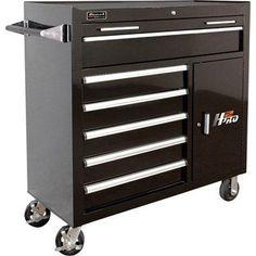"Homak 41"" H2Pro Series 6 Drawer Roller Cabinet"